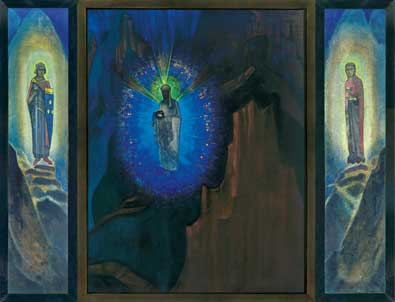N. Roerich. Fiat Rex. (Long Live the King) Triptych. 1931