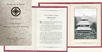"Magazines of the Institute of Himalayan Studies ""Urusvati"". New York. 1931 – 1933"