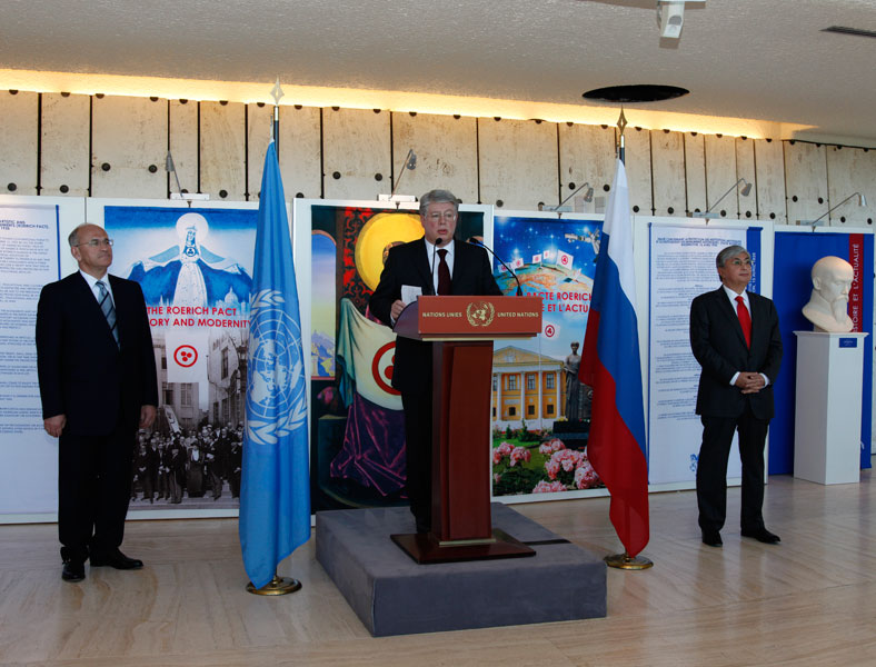 The speaker is the permanent representative of Russian Federation to the United Nations and other international organizations  in Geneva Mr. A.N. Borodavkin