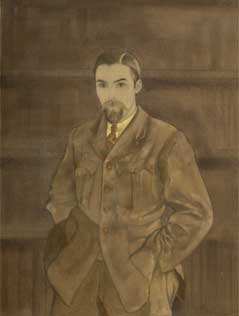 S. Roerich. Portrait of Y. Roerich (Uncompleted) . 1930s.