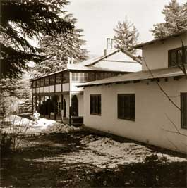 "The administrative and medical buildings of the Institute of Himalayan Studies ""Urusvati"". 1930s"