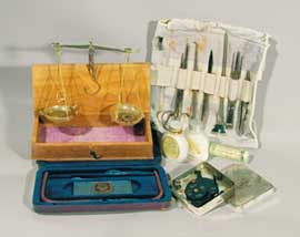 Medical equipment from the expedition first-aid kit