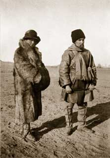 H. and Y. Roerich during the Central-Asian expedition. 1927 – 1928