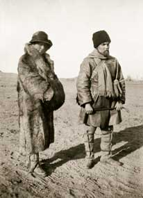 H. and Y. Roerichs during the Central-Asian expedition. 1925-1927