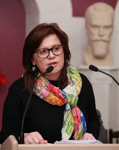 The representative of the Moscow Department of Culture, director of the Moscow Center for museums development Tatyana V. Ghafar