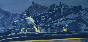 N. Roerich. Christ and Buddha's roads juncture. 1925