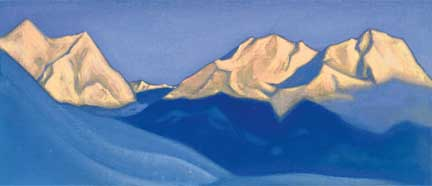 N. Roerich. Himalayas (Pink Tops). 1947
