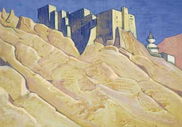 N/ Roerich. Ladakh. Leh. The Royal Palace. Undated