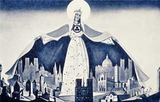 N. Roerich. Madonna - Protector. 1933